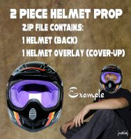 Cutout PNG - 2 Pc. Helmet Set by justiej