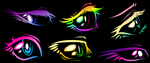 Mane Six Eyes by swiftyuki