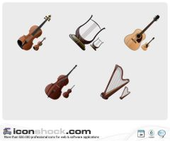 Stringed Instruments by Iconshock