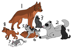 Adoptable Wolf Family - closed by inuyasha1086