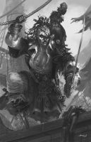 Thulsa (Grayscale version) by Brolken