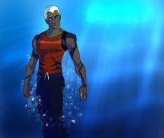 YJ: Aqualad by avidcartoonfans