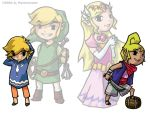 Link and Zelda: Incarnations by paisley