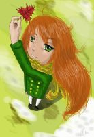 Late autumn girl by Xaizently