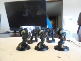 First Miniature Paintings ~ Dark Angels Side 2 by Leimary