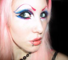 Makeup - Blue, Pink by Ryo-Says-Meow