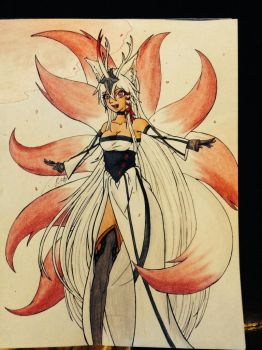 My Nine Tailed OC by EnigmaticallyEerie