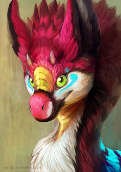 Fluffy Raptor by Raironu