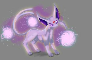 No. #196: Espeon (repainted) by Somnusvorus