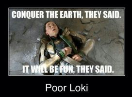 Poor Loki by OrangeGreenConverse