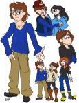 Messy Doodle Dump: Older Dipper by Aeon-Borealis