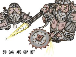 Saw and Gun Heavy Bot by Gears24