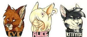 Anime North Badges by CALLYKITTY