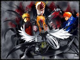 Naruto and Ichigo 2 Wallpaper by delixir