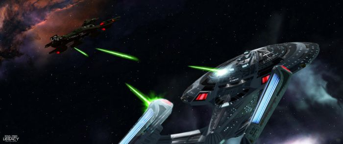 Sovereign and Negh'Var (Klingon Attack) by AL-Proto