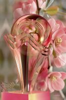 Glass Flower Vase with translucent sphere for Lea by marijeberting