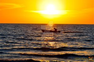 Sunset Motorboat by Muhammed-Jetimi
