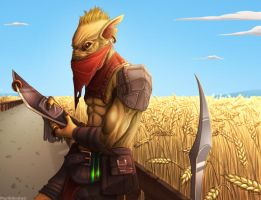DOTA2: Wheatfield Bounty Hunter by MarikBentusi