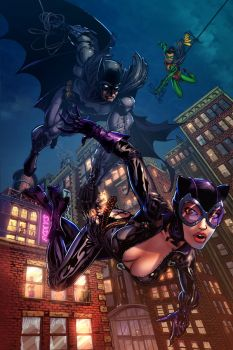 Batman and Catwoman color by cehnot