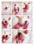 Needle Felted Merengue  by Cuney