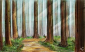 Forest Sketch No. 2 by Bored-dood