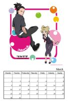 Shikatema Calendar 2009-March- by darkgal666