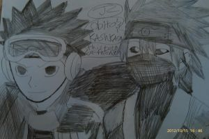 NS Obito and kakashi of best friend by Bluedragoncartoon