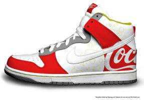 Coca Cola Hi Dunks by JCartist