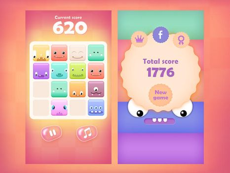 2048 cute monsters - iOS/Web/Android game by brainchilds