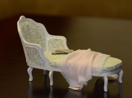 The lady's chaise longue - miniature by SRKminiature