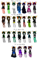huge fantroll adopt sheet 20 points each by RainbowCoffeeQueen