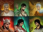 Portraits - Heroes from Persian mythology by IRCSS