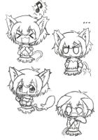 Bad Kitty Expressions 2 by gummigator