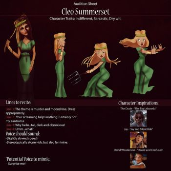 Cleo Audition Sheet by IsaiahStephens