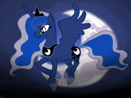 Princess Luna in Flight by Jkaboose