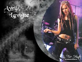 Avril Lavigne wallpaper -6 by Zeldahyrule