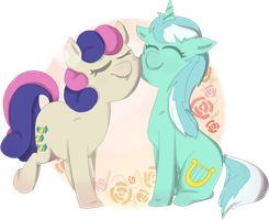 Lyra and Bon Bon by audse