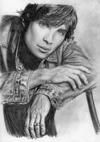 Pencil.Cillian.monochrome by Bitterkawaii
