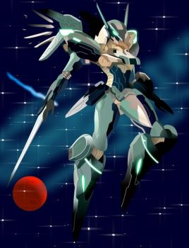 Jehuty of Zone of Enders by MAXvador