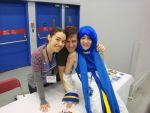Otakuthon 2012: Yuri Lowenthal and Tara Platt by Cassandrina