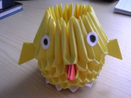 3D origami - Chicken by Ketike