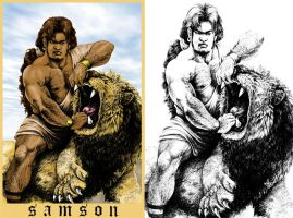 Samson And The Lion. by Highlander0423