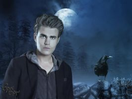 Stefan Salvatore by SPRSPRsDigitalArt