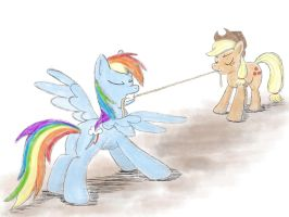 Tug of War by WerdKcub