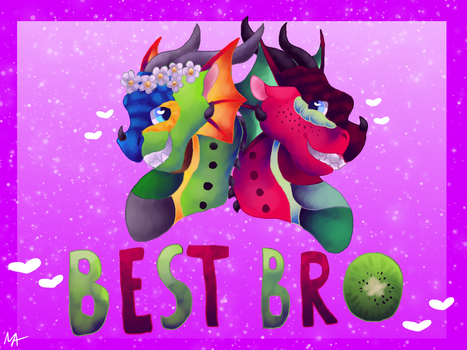 Best Bro [Collab + Speedpaint] by Jomadis