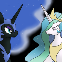 Black and White, day and night by Snus-kun
