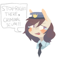 spaghetti police by BerryDrops