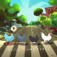 Abbey Chickens by ZEBES
