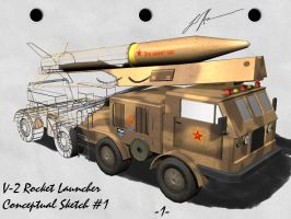 Soviet V-2 Rocket Launcher by Aircraftkiller