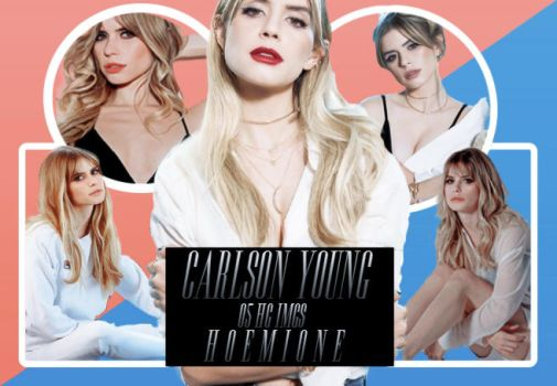 PNG PACK #01 | Carlson Young by hoemione